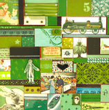 Green, Surface Design, Wall Covering, retro imagery,bespoke, vintage handmade