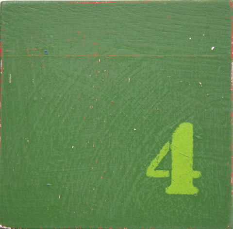 Green Number, Ceramic Tile, Wood Look, Timber Look