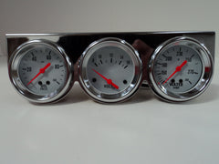 Chrome Mechanical Complete Triple Gauge Kit
