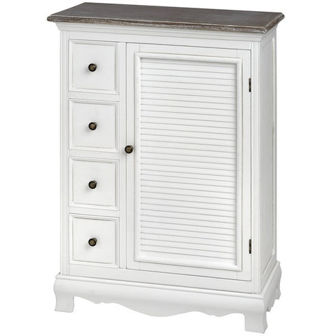 Charlotte Large Cabinet with 4 Small Drawers