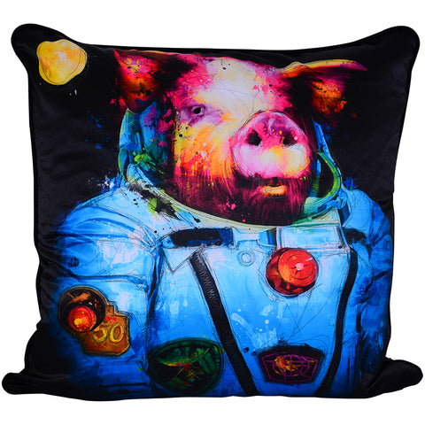 Patrice Murciano Pig in Space Luxury Cushion (Feather Filled)