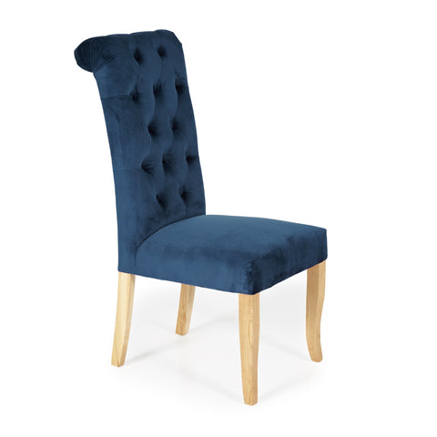 Chiswick Dining Chair in Indigo Blue (2 Chairs Included)
