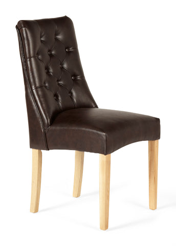 Fulham Dining Chair in Brown (2 Chairs Included)
