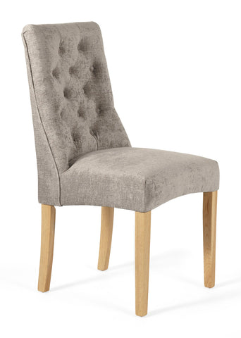 Fulham Dining Chair in Mink (2 Chairs Included)