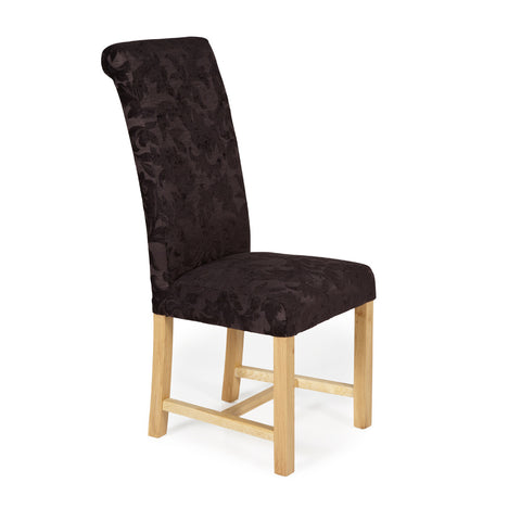Greenwich Dining Chair in Aubergine Floral (2 Chairs Included)