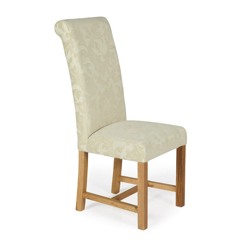 Greenwich Dining Chair in Cream Floral (2 Chairs Included)