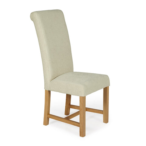 Greenwich Dining Chair in Cream Plain (2 Chairs Included)