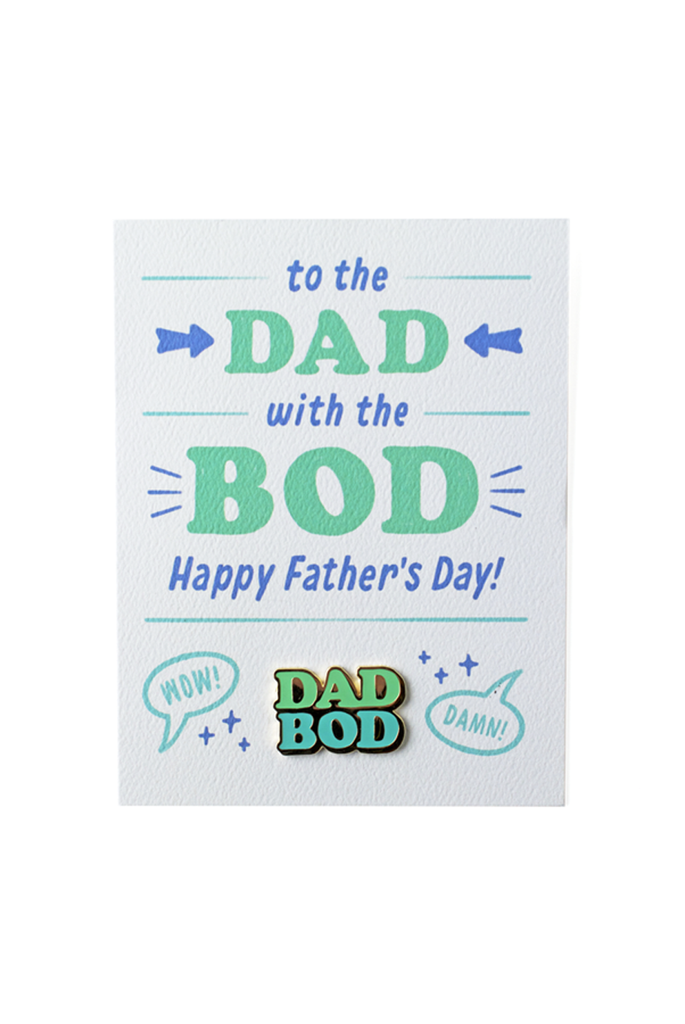 Dad Bod Card and Pin
