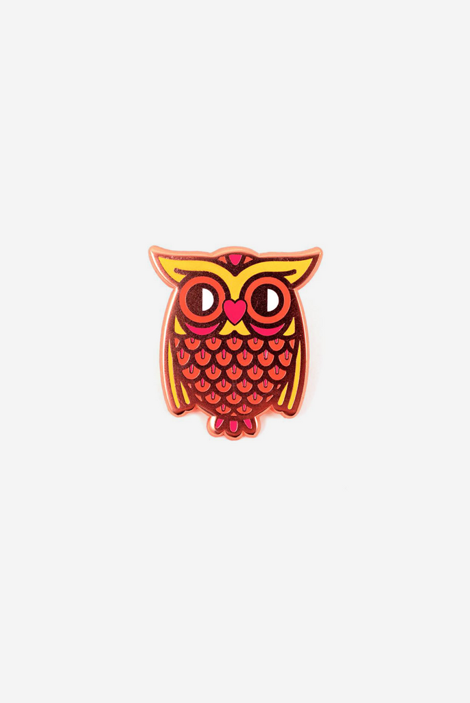 Owl Love Enamel Pin Card