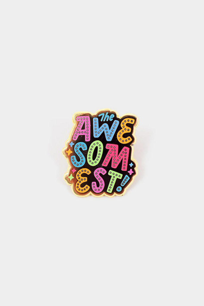 So Awesome Enamel Pin Card