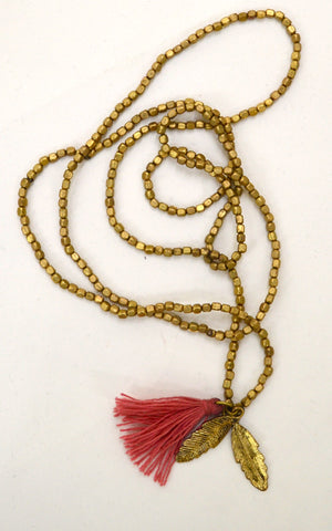 Brass Feather Mala