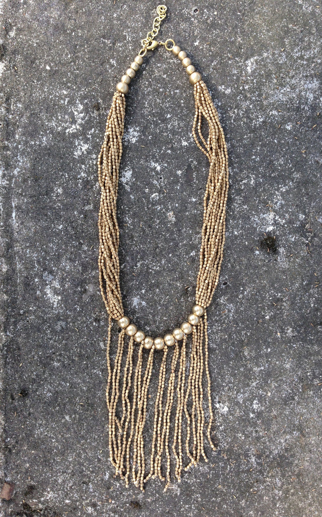 Brass Beaded Necklace