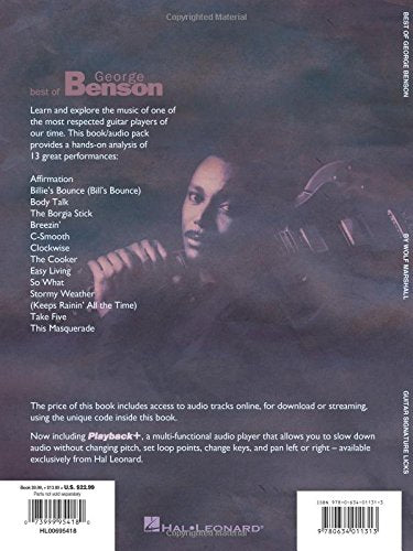 Best of George Benson: A Step-by-Step Breakdown of His Guitar Styles and Techniques Bk/Online Audio (Signature Licks)