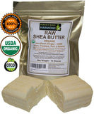 Certified Organic Raw Shea Nut Butter BARS - 16.0 OZ Total [ 2 X 8.0 oz bars]