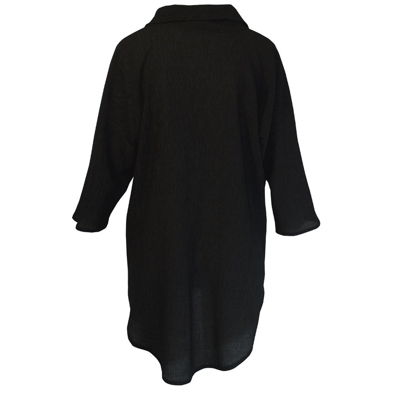Tiffany Treloar Tama Cowl Top Black Back