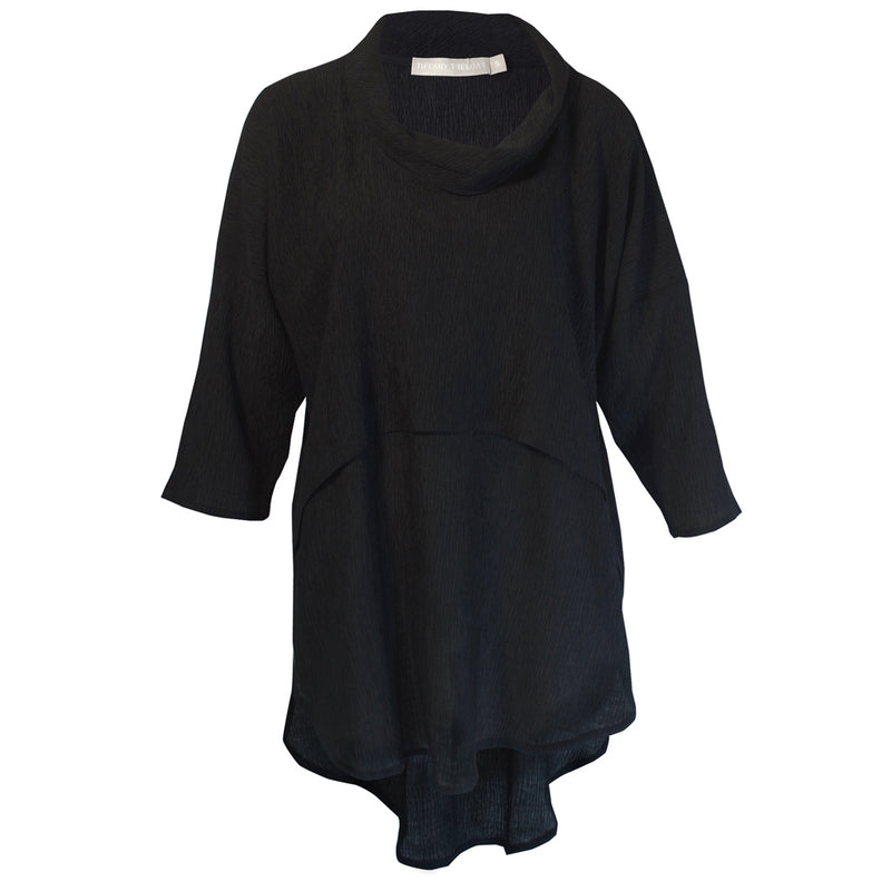 Tiffany Treloar Tama Cowl Top Black Front