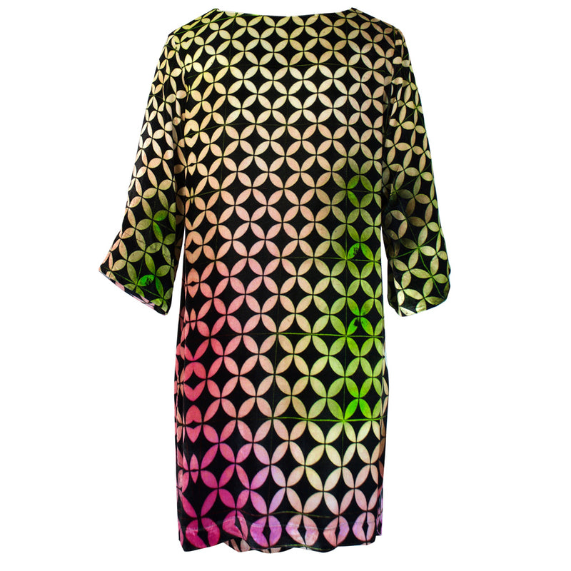 Tiffany Treloar Print Silk Velvet Tunic/Dress Buzz Back