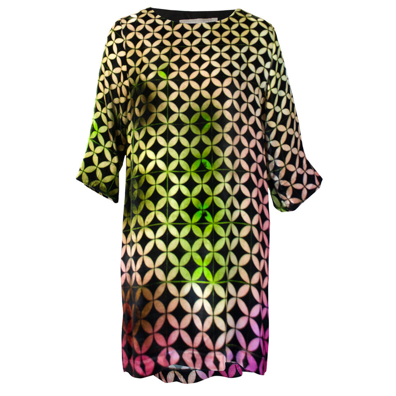Tiffany Treloar Print Silk Velvet Tunic/Dress Buzz Front
