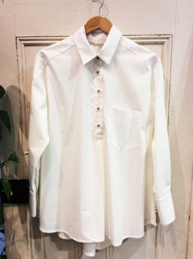 Cotton Pierre Shirt Ivory