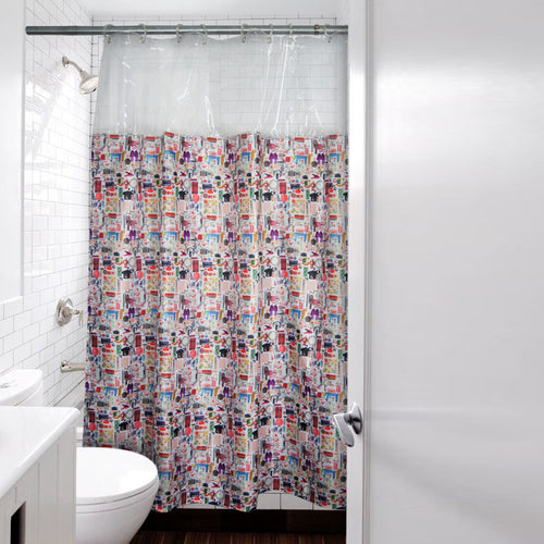 'Paraphernalia' shower curtain