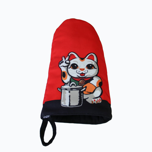 'Lucky Cat' oven mitt, Kitchenware, Goods of Desire, Goods of Desire