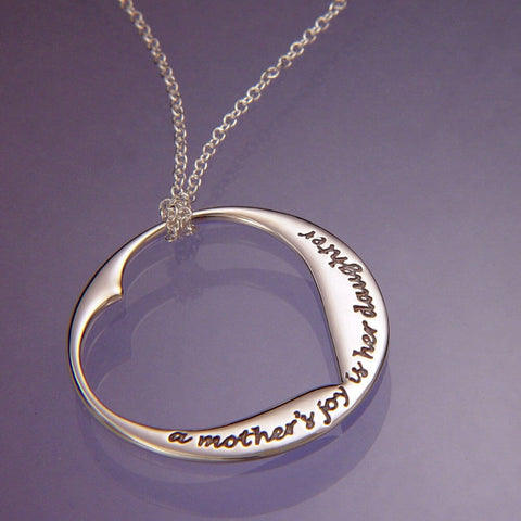 A Mothers Joy Is Her Daughter Necklace