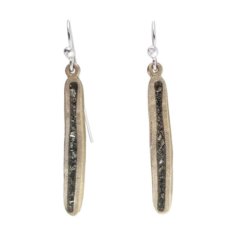 David Urso Pyrite Bronze Stick Earrings