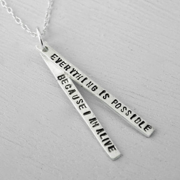Everything Is Possible Thich Nhat Hahn Quote Necklace