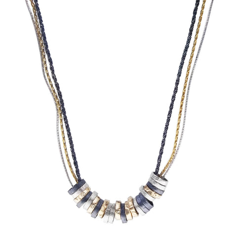 Israeli Celebration Of Silver And Gold Rings Necklace
