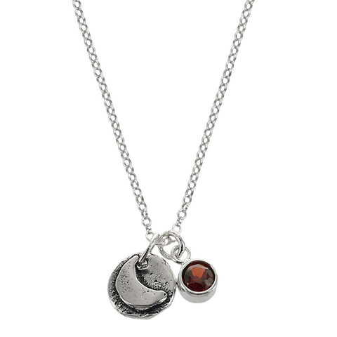Reach For The Moon Crescent Charm Necklace