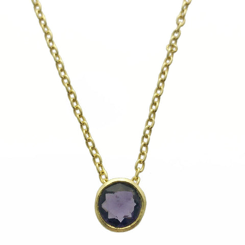 Betty Carre Round Amethyst Necklace