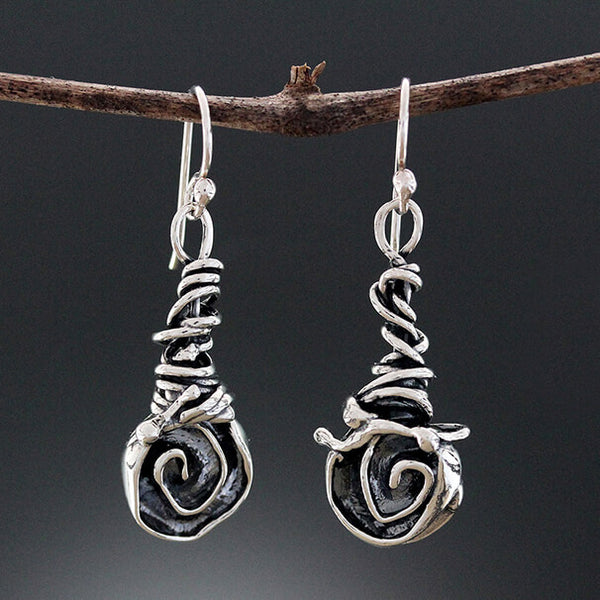 Sherry Tinsman Rose on Vine Wrap Earrings