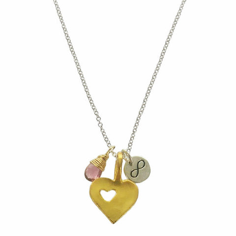 b.u. A Mothers Love Is Infinite Charm Necklace
