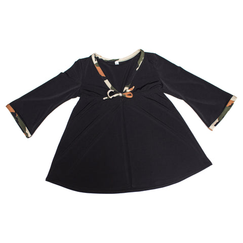 FASTEN toddler cover up. Black with camo cover-up keeps your little girl protected from the sun on beach and pool days.
