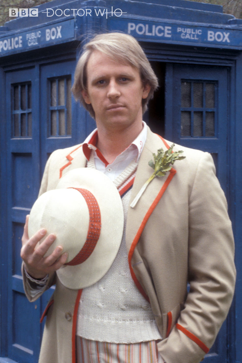 Fifth Doctor's Celery Lapel Pin