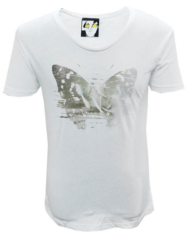 Julian Lennon (First Rose With Signature) White Scoop Neck T-Shirt