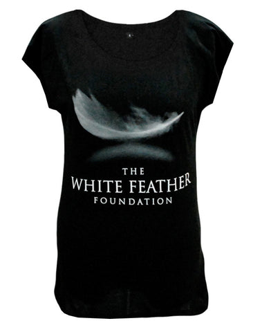 white feather foundation t-shirt