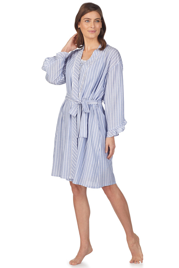 Monterey Stripe Wrap Robe