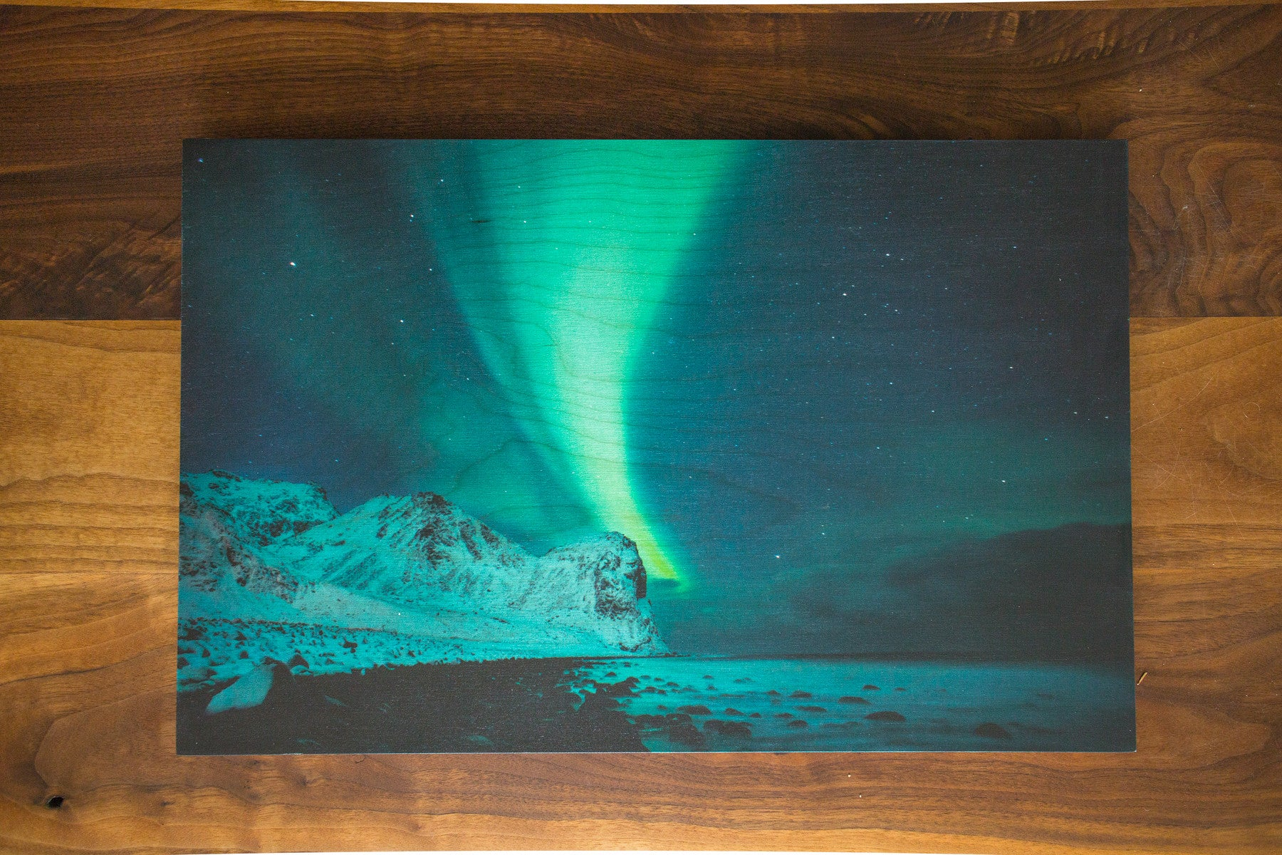 Norway Nights- Wood Print