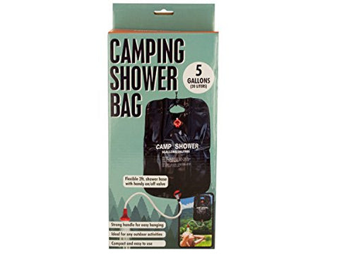 Regalo Perfecto Collection Camping Shower Bag with Flexible Hose