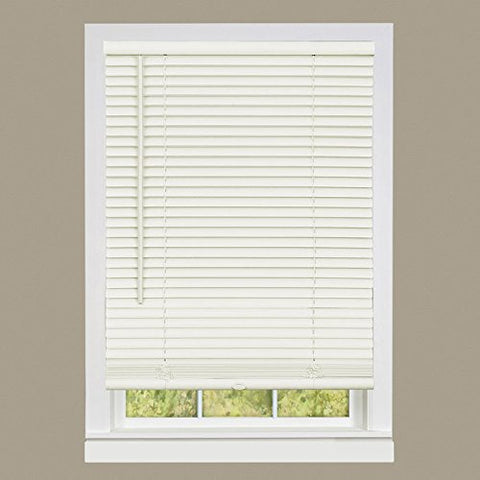 Park Avenue Collection Cordless GII Deluxe Sundown 1 inch  Room Darkening Mini Blind 23x64 - Alabaster