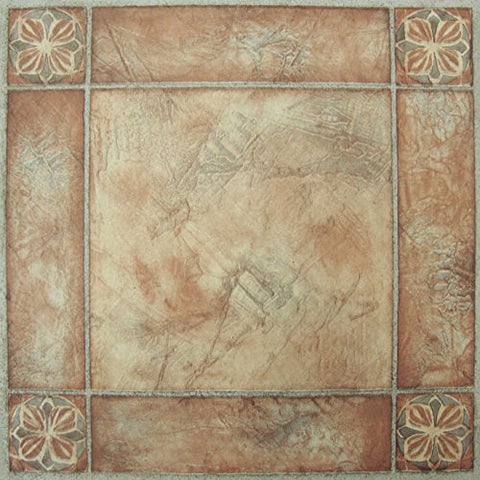 Park Avenue Collection NEXUS Spanish Rose 12 Inch x 12 Inch Self Adhesive Vinyl Floor Tile #446 - 20 Tiles