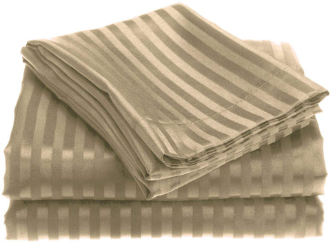 1800 Series Embossed Egyptian Striped Sheet Set