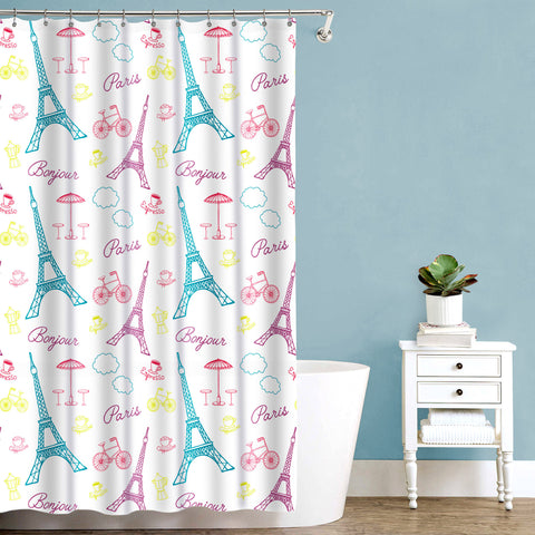 "Royal Bath Bonjour Paris Fabric Shower Curtain (70"" x 72"")"