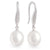 18K White Gold South Sea Cultured Pearl Hook Earrings