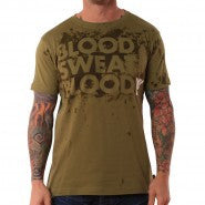 BLOOD SWEAT BLOOD SS REACTIVE TEE OLIVE