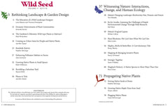 Wild Seed Magazine Volume III table of contents
