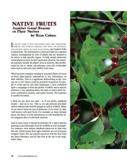 Wild Seed magazine: Native Fruits: Another good reason to plant natives