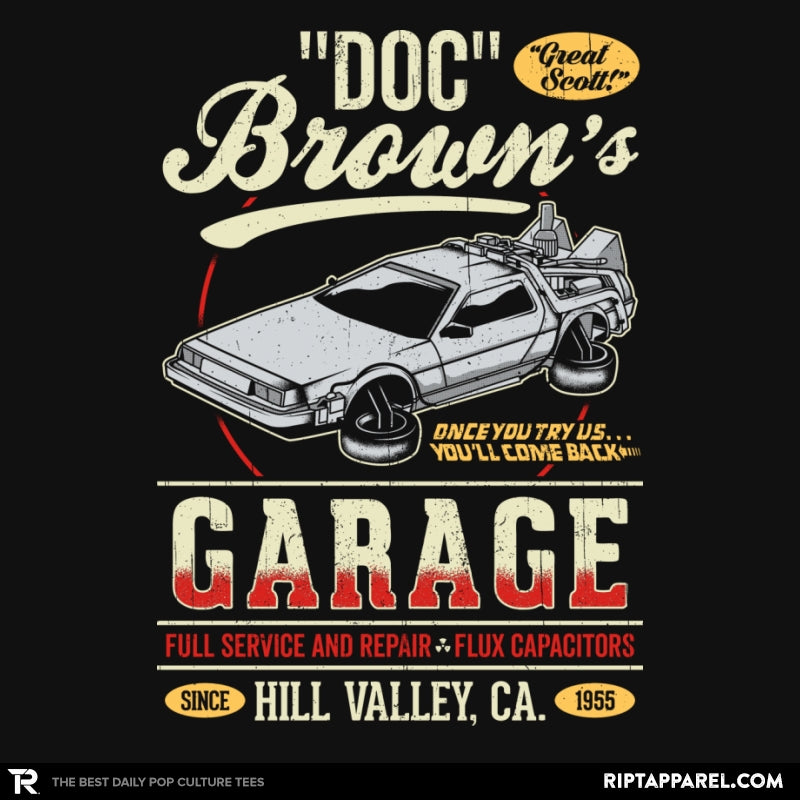 Doc Brown's Garage - RIPT Apparel