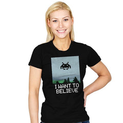 I WANT TO BELIEVE - Womens - T-Shirts - RIPT Apparel